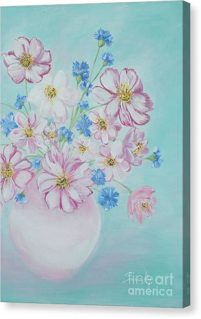 Flowers In A Vase. Inspirations Collection Canvas Print