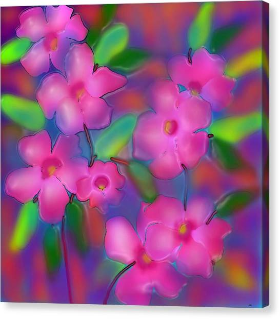 Diwali Canvas Print - Flowers Of October by Latha Gokuldas Panicker