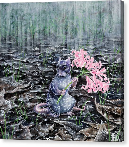 Flowers On A Rainy Day Canvas Print