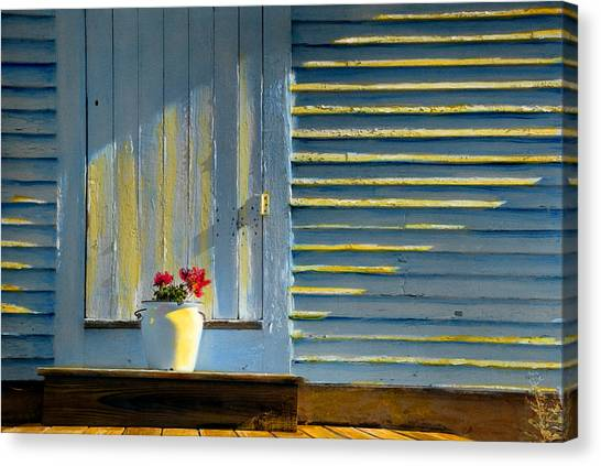 Flowers On The Porch Canvas Print