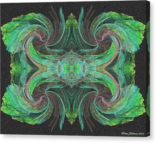 flowers on Venus Tile Canvas Print