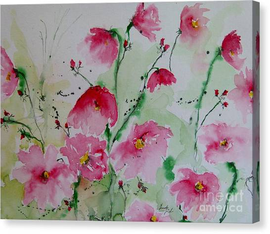 Flowers - Watercolor Painting Canvas Print
