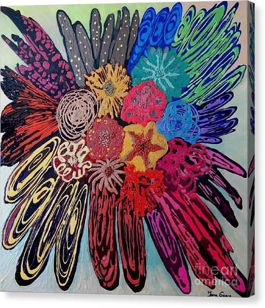 Flowers Burst By Jasna Gopic Canvas Print