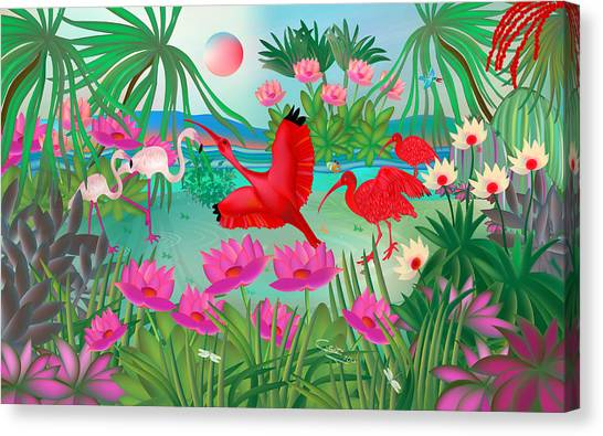 Flowery Lagoon - Limited Edition 1 Of 20 Canvas Print