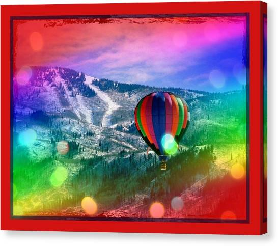 Flowing Rainbow Balloon Canvas Print by Tracie Howard