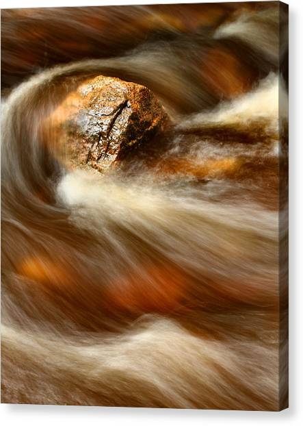 Flowing Stream Canvas Print by Acadia Photography