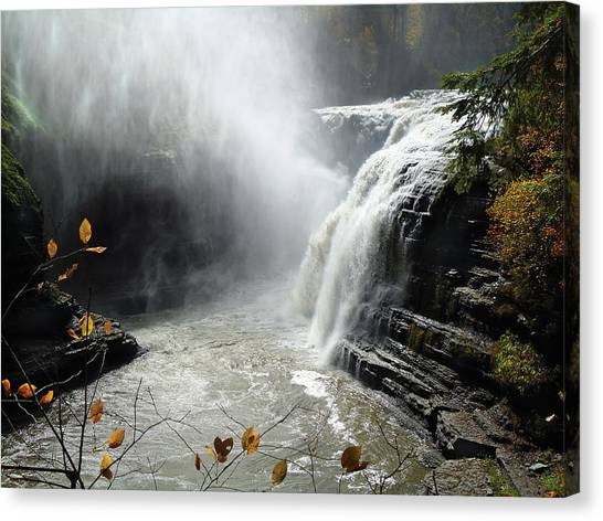 Flowing Tranquility Canvas Print by Mike Feraco