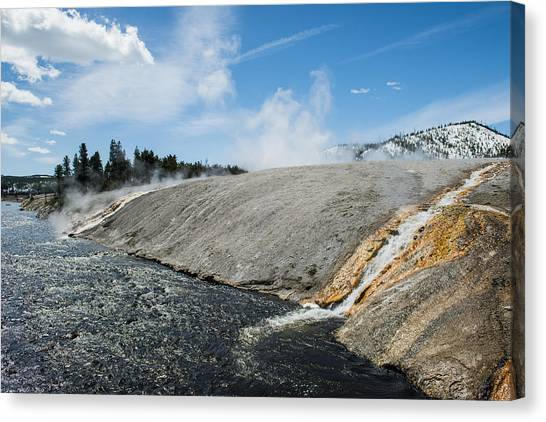 Flows Flowing Canvas Print