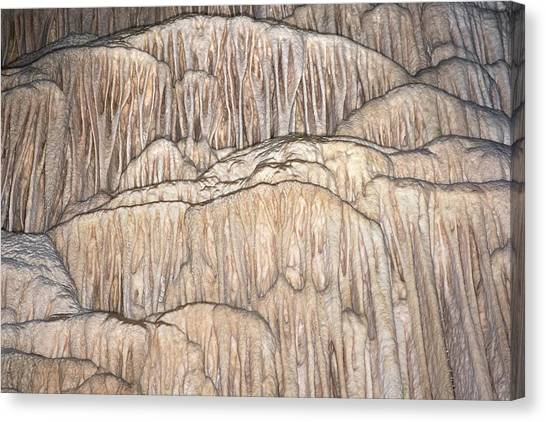 Stalagmites Canvas Print - Flowstone Formations by David Parker
