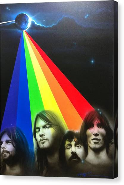 Pink Floyd Canvas Print - Floyd by Christian Chapman Art