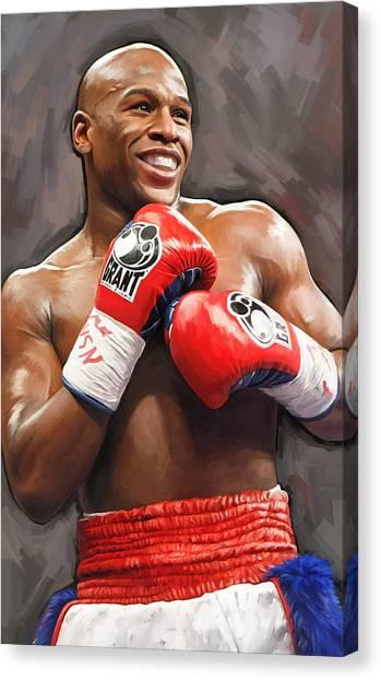 Floyd Mayweather Canvas Print - Floyd Mayweather Artwork by Sheraz A