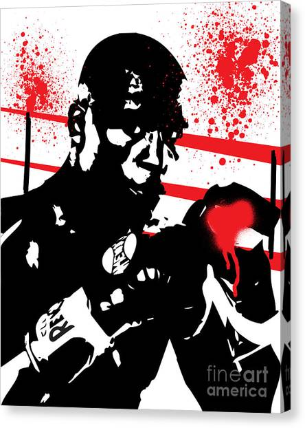Manny Pacquiao Canvas Print - Floyd Mayweather Jr. by Israel Torres