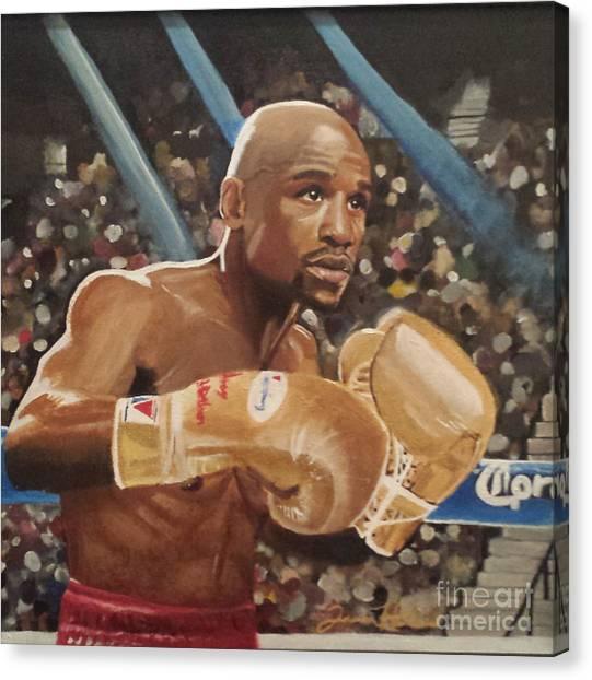 Floyd Mayweather Canvas Print - Floyd Mayweather Jr by Jason Majiq Holmes