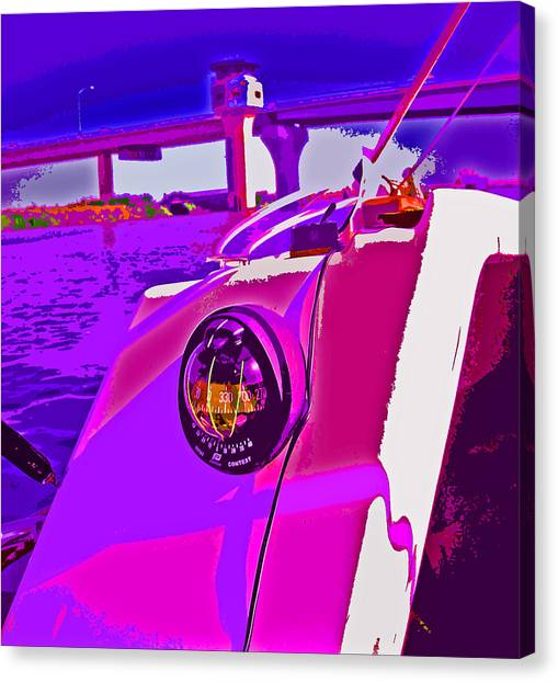 Floyd Pink And Purple Canvas Print