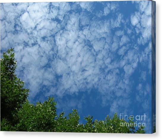 Fluffy Summer Clouds 1 Canvas Print