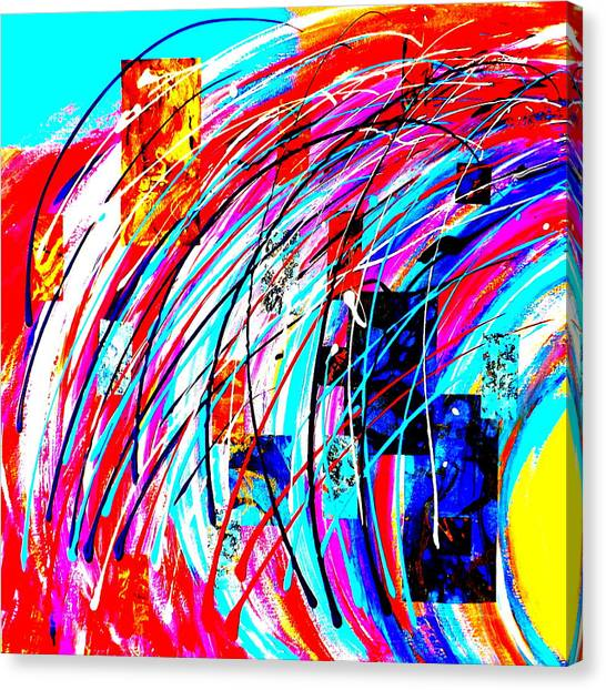 Fluid Motion Pop Art Canvas Print