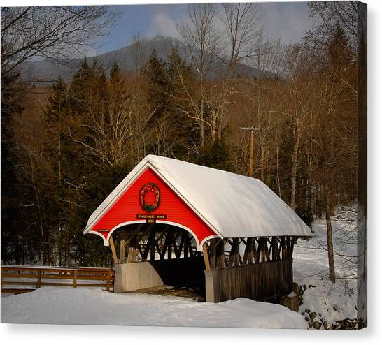 Flume Covered Bridge Canvas Print