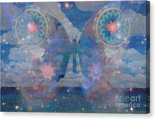 Flutterby Meditation Canvas Print