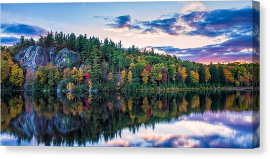 Fly Fishing At Sunset Stonehouse Pond Canvas Print