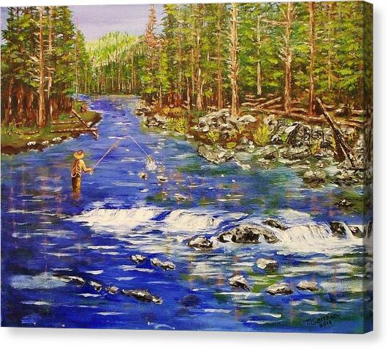 Fly Fishing The Sierras Canvas Print