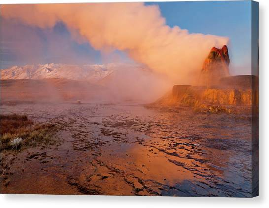 Black Rock Desert Canvas Print - Fly Geyser In The Black Rock Desert by Chuck Haney