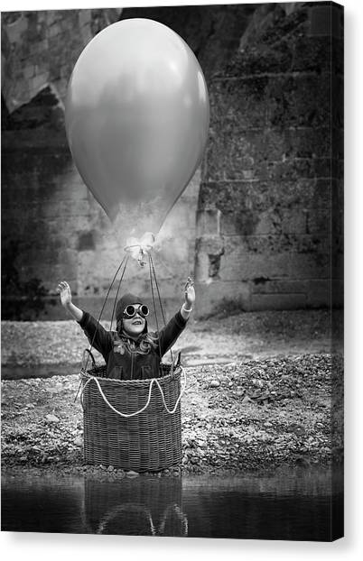 Hot Air Balloons Canvas Print - Fly Me To The Moon by Bruno Birkhofer