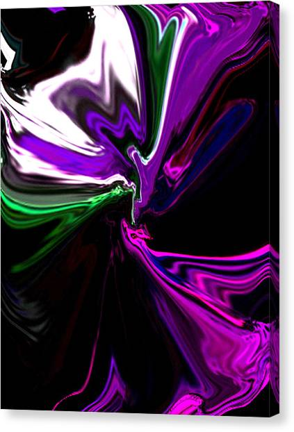 Purple Rain Homage To Prince Original Abstract Art Painting Canvas Print