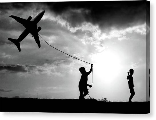 Rope Canvas Print - Fly My Plane by
