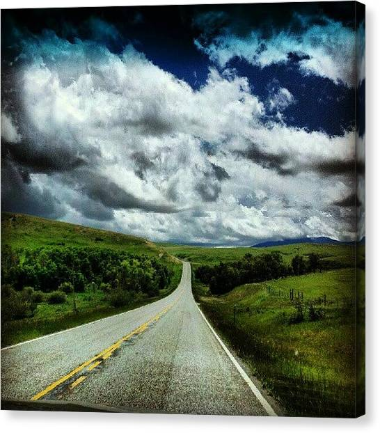 Big Sky Canvas Print - The Road To Heaven by Denette Jacobson