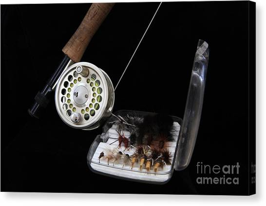 Fly Rod And Fly's Canvas Print
