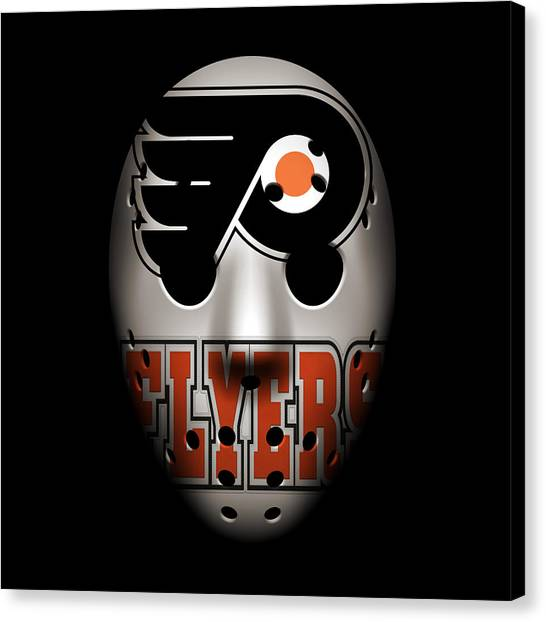 Philadelphia Flyers Canvas Print - Flyers Goalie Mask by Joe Hamilton