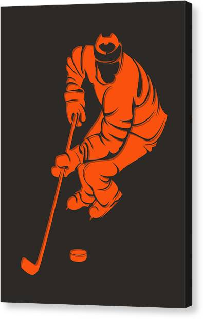 Philadelphia Flyers Canvas Print - Flyers Shadow Player3 by Joe Hamilton