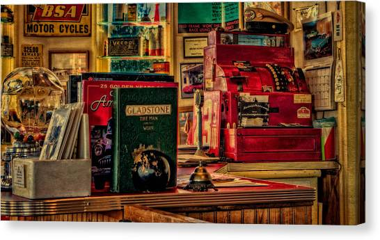 Flying A Service Station Office Canvas Print