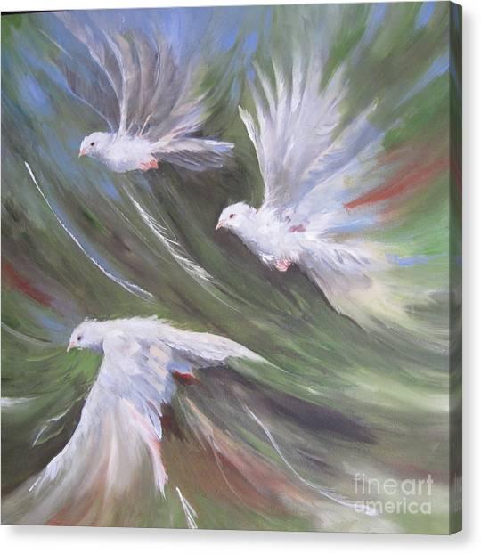 Flying Birds Canvas Print by Paula Marsh