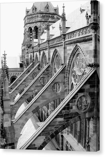 Flying Buttresses Bw Canvas Print