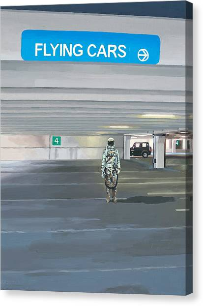 Science Canvas Print - Flying Cars To The Right by Scott Listfield