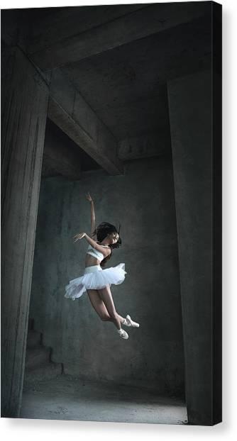 Flight Canvas Print - Flying Dance by Sebastian Kisworo