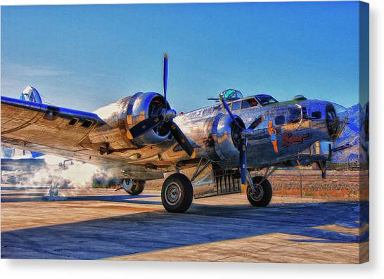 Flying Fortress Sentimental Journey Canvas Print