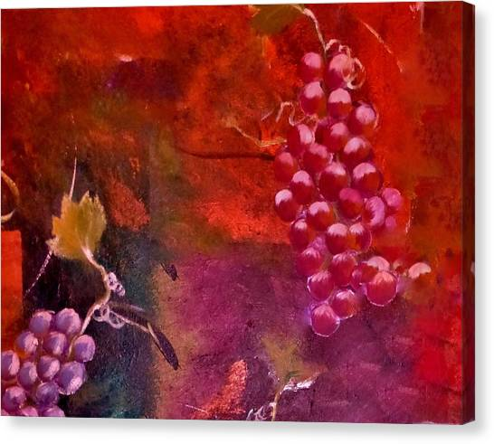 Flying Grapes Canvas Print