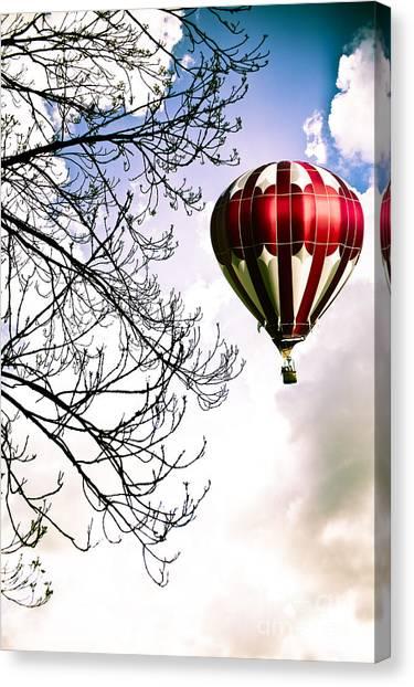 Ballooning Canvas Print - Flying High by Jan Bickerton