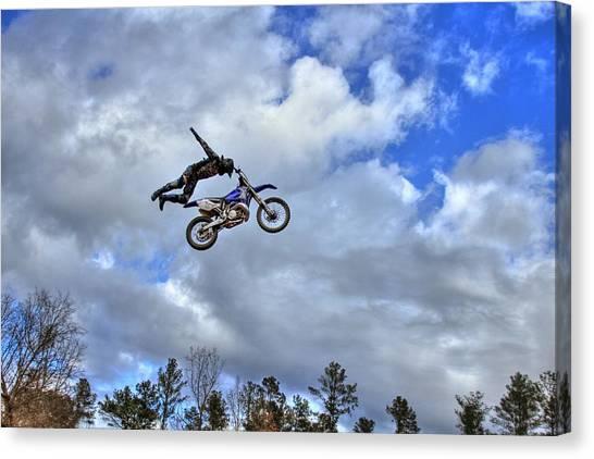 Motocross Canvas Print - Flying High by Reid Callaway
