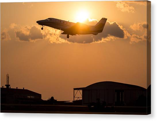 Cessnas Canvas Print - Flying Home by Paul Job