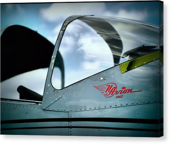 Prop Planes Canvas Print - Flying In A Blue Dream by Linda Unger