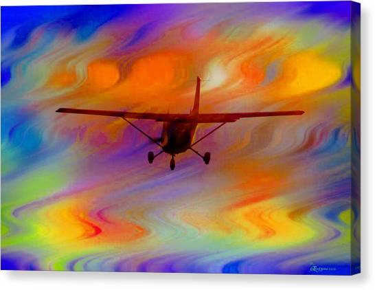 Flying Into A Rainbow Canvas Print