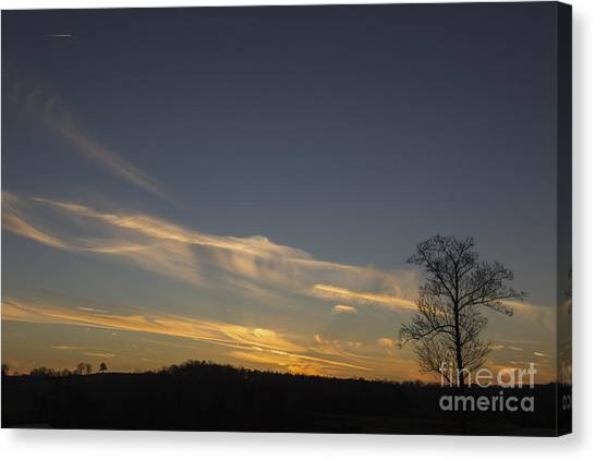 Flying Into The Yellow Sunset Canvas Print