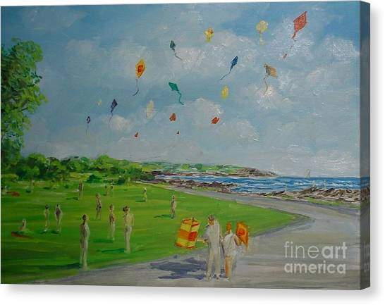 Flying Kites Newport Ri Canvas Print