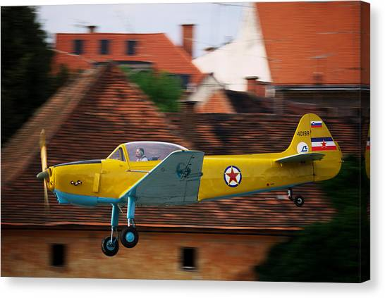 Flying Low Canvas Print