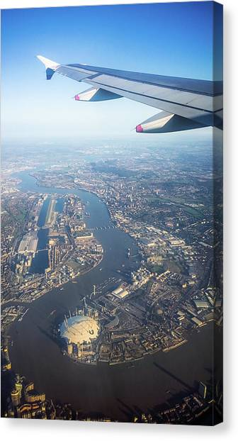 Flying Over London Canvas Print by Georgeclerk