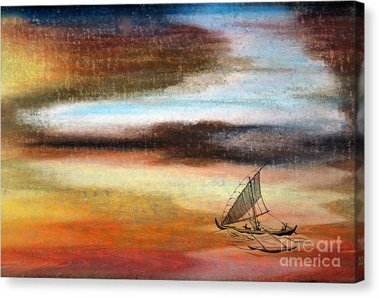 Flying Proa Canvas Print by R Kyllo