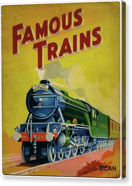 Trainspotting Canvas Print - Flying Scotsman No by Mary Evans Picture Library
